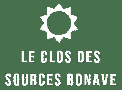 Le Clos des Sources Bonave Logo Blanc